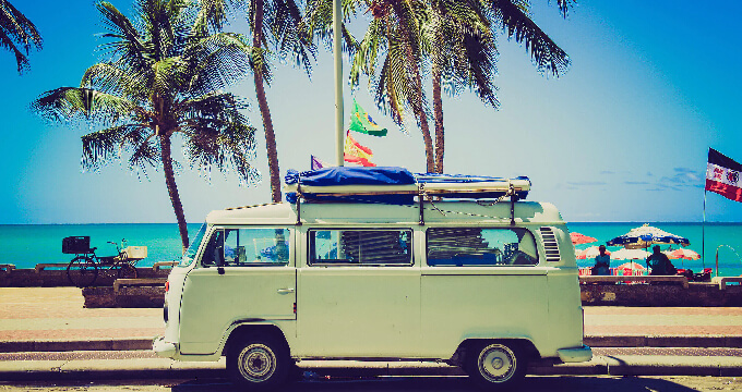 海外のビーチの写真