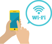 スマートフォンとWi-Fiのイラスト