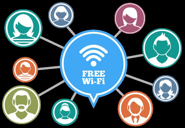 フリーWiFiは不特定多数の利用者がみんなでシェアして使っている