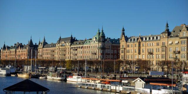 スウェーデンの街並み