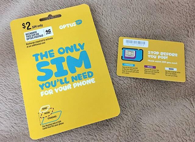 使われないまま終了したオーストラリアのSIMカード