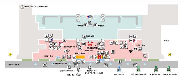 福岡空港1階フロアマップ